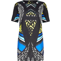River Island Womens Black abstract graphic print shift dress