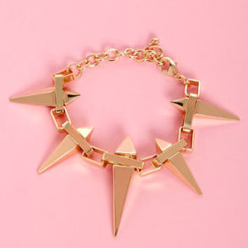 Stake-r Shock Gold Spike Bracelet