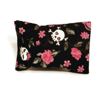 Aromatherapy Herbal Dream Pillow - Pink Floral Skulls - (Blends Available: Restful, Peaceful, Romantic, or Creativity)