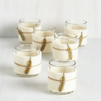 Boho Radiate Peace Votive Candle Holder Set by ModCloth