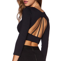 David Lerner Emerson Crop Top in Black