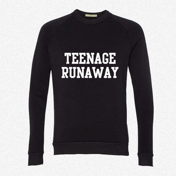 Teenage Runaway fleece crewneck sweatshirt