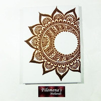 Henna on canvas, Crescent moon, Yoga gifts, Moon canvas, Canvas, Henna art, Indian wedding, Tribal india, Mandala canvas, Mehndi moon