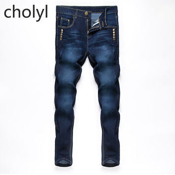 Beswlz New Arrival Men Jeans Pants Casual Fashion Classical Denim Jeans Men Slim Male Jeans  CHOLYL CHOLYL