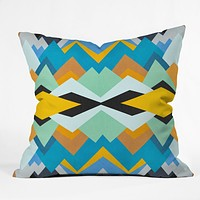 Elisabeth Fredriksson Golden Winter Pattern Throw Pillow