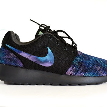 Galaxy Roshe Nike Women's Size 7.5 New Custom Hand Painted Rosherun