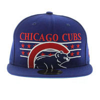 Chicago Cubs Team Colors The Star Studded 59fifty New Era 5950 New Era Caps, Snapbacks, Bucket Hats, T-Shirts, Streetwear USA Cranium Fitteds