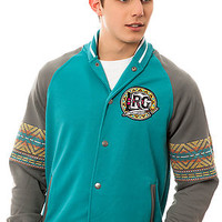 The Kente Track Jacket in Light Teal