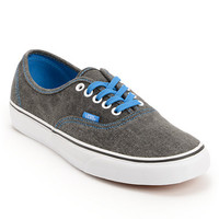 Vans Authentic Washed Black & Blue Canvas Shoes at Zumiez : PDP
