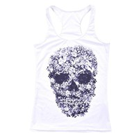 Running Vests Jogging New Arrival White 3D Sports Tank Tops Women Sexy Sleeveless T Shirt Clothes Elastic Yoga s Camisole Skulls S-4XL KO_11_1