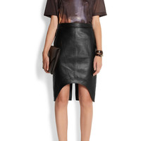 Givenchy | Black leather pencil skirt | NET-A-PORTER.COM