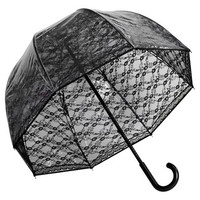 Elite Rain Premium Fiberglass Bubble Umbrella - Color: Black Lace