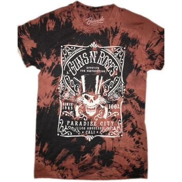 "Hand Bleached Guns""N""Roses ""Paradise City"" Band Tee"