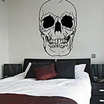 Wall Decal Vinyl Sticker Decals Art Decor Design Skull Tattoo Face Mans Gift Boy Rock Cool Horor Bedroom Nursery Dorm (r692)