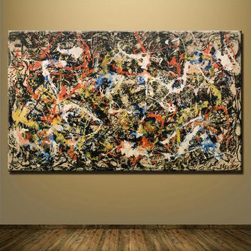 2016 fashion sale wall art Large paintings For Home Decoration Ideas painting canvas Jackson Pollock Number 1a 1948