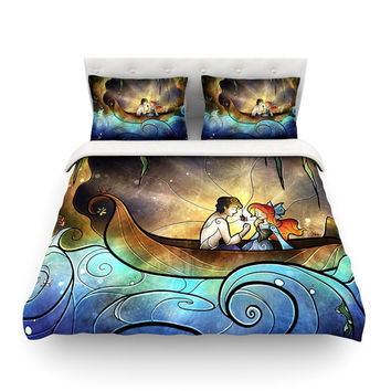 """Mandie Manzano """"Something About Her"""" Mermaid Featherweight Duvet Cover"""