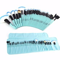 32pcs SkyBlue Makeup Brush set with bag