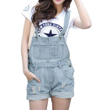 05eafca634a New 2016 S-XL Top Quality Women Girls Washed Jeans Denim Casual. Item Type   Jumpsuits   Rompers ...