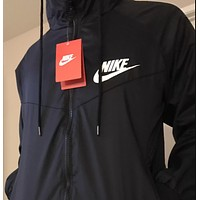 "shosouvenir. ""NIKE"" Hooded Zipper Cardigan Sweatshirt Jacket Coat Windbreaker Sportswear"