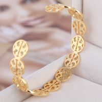 Tory Burch New fashion metal hollow opening women bracelet Golden