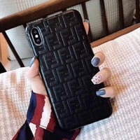 FENDI Classic Fashion Mobile Phone Cover Case For iphone 6 6s 6plus 6s-plus 7 7plus 8 8plus X XSMax XR Black