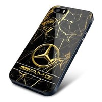 New Famous Mercedes AMG Car Logo Gold Marble Fit Hard Case for iPhone 7 7+ Cover