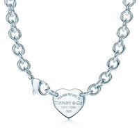 Tiffany & Co. - Return to Tiffany® heart tag choker in sterling silver.