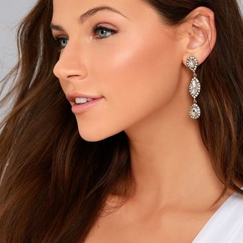 Invoke Love Gold Rhinestone Earrings