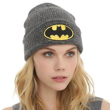 ONETOW Perfect Batman Embroidery Women Men Beanies Winter Knit Hat Cap