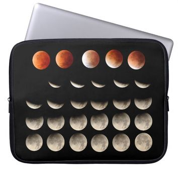 Blood Moon Total Lunar Eclipse Phases Astronomy Laptop Computer Sleeve