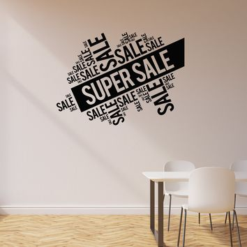 Vinyl Wall Decal Super Sale Words Cloud Shop Store Decor Interior Art Stickers Mural (ig5705)