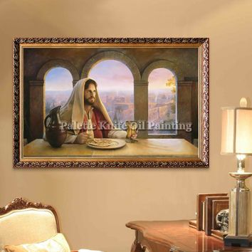 Jesus Christ Jesus Canvas Posters and Prints Wall Art Pictures for living room Home Decor cuadros decoracion Oil painting 131