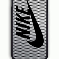 iPhone 6 Case - Rubber (TPU) Cover with Nike Logo on Steel Mesh Titanium Rubber Case Design