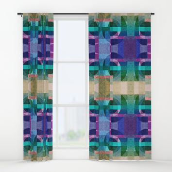 Composition7 textured Window Curtains by edrawings38