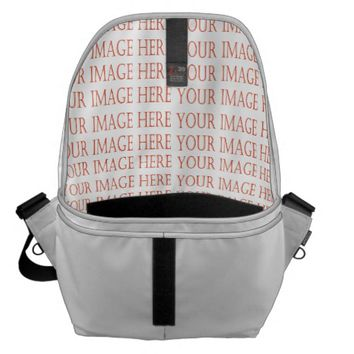 Customize your own large messenger bag Inside
