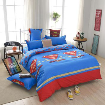 cartoon  kids children boy girl bedclothes bedding set quilt cover set