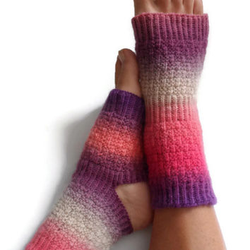 ON SALE Yoga Socks Hand Knit in Gossip Pedicure Pilates Dance