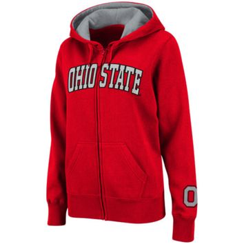 Ohio State Buckeyes Women's Classic Arch Full Zip Hooded Sweatshirt – Scarlet
