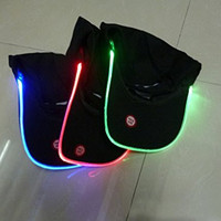 CCrystal 1 Pcs Fashion Unisex LED Light Glow Hat Club Party Baseball Hip-Hop Adjustable Hat Cap Hot