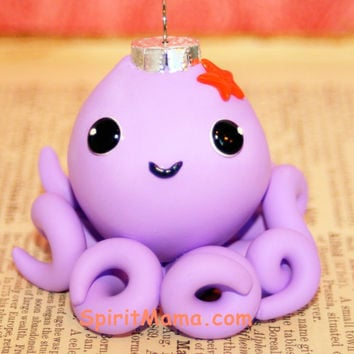 Kawaii Octopus Lavender Ornament