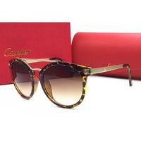 Perfect Cartier Women Casual Popular Summer Sun Shades Eyeglasses Glasses Sunglasses