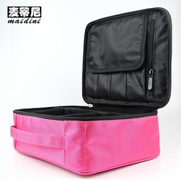 Women Makeup Bags Professional Cosmetic Cases Pink Black Beauty Organizer Toilet Kits Storage Bag Female Travel Wash Pouch
