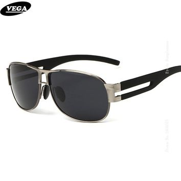 VEGA Wrap around Sunglasses Hipster Polarized Safety Glasses Latest HD Vision Eyeglasses Stainless Steel Extra Wide Legs 8459