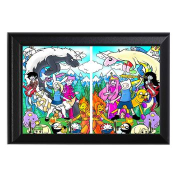Adventure Time Girl and Boy Versions Geeky Wall Plaque Key Holder Hanger