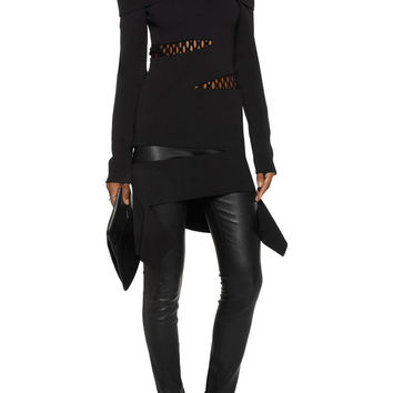 Proenza Schouler Off-the-shoulder cutout stretch-knit top – 65% at THE OUTNET.COM