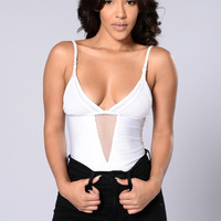 Raise Hell Bodysuit - White