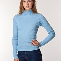 American Apparel Baby Rib Long Sleeve Turtleneck