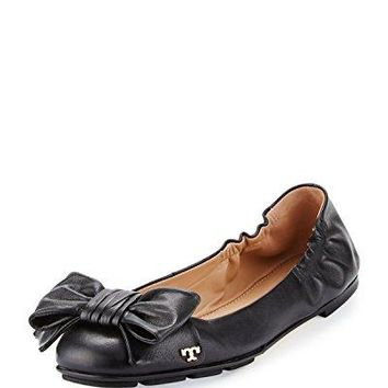 Tory Burch Divine Bow Driver Ballet Flat Women's Leather Shoes
