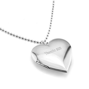 Fashion creative DIY photo necklace. Solid 925 sterling silver heart-shaped photo box pendant necklace Woman silver jewelry gift