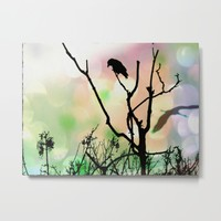 The Lonely Crow At Sunset Metal Print by minx267